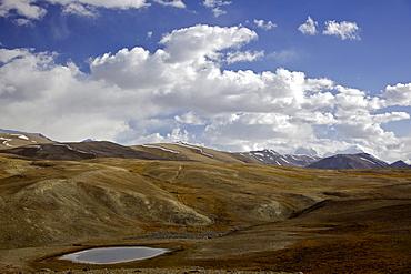 Pik Karl Marx and Pik Friedrich Engels peaks, Pamir mountain range, Tajikistan, Central Asia