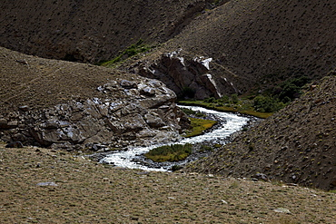 River in the Pamir mountain range, Tajikistan, Central Asia