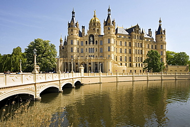 Schwerin Castle, Mecklenburg-Vorpommern, Germany, Europe