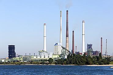 Coking plant and blast furnace plant Schwelgern, ThyssenKrupp Steel, factory in Bruckhausen, Duisburg, North Rhine-Westphalia, Germany, Europe