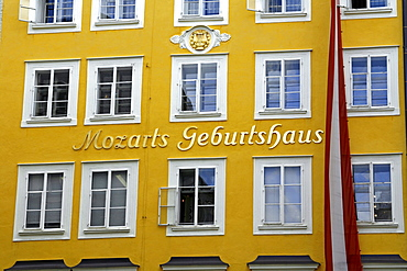 Mozart's Birthplace, historic centre of Salzburg, Austria, Europe