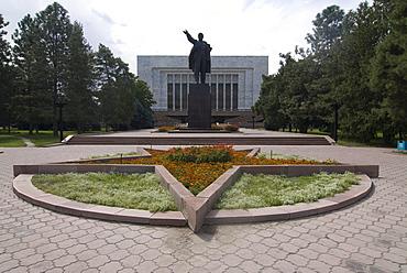Statue of Lenin, Bishkek, Kyrgyzstan, Central Asia,