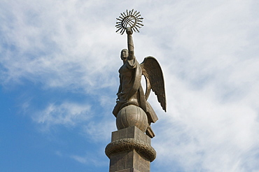 Statue of an angel on Ala-Too square, Bishkek, Kyrgyzstan, Central Asia