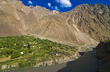 Settlement in Bartang valley, Tajikistan, Central Asia