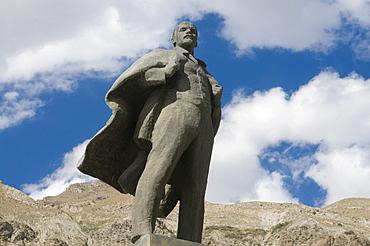 Statue of Lenin, communism, Khojand, Tajikistan, Central Asia