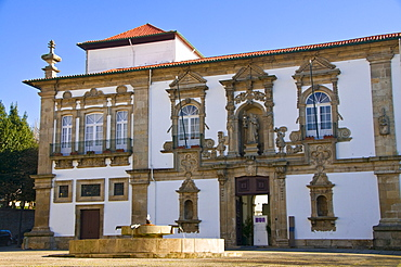 Historical mansion in the historic district of Guimaraes, Portugal, Europe