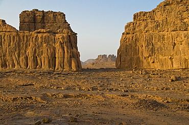 Rock landscape, Tasset, Algeria, Africa