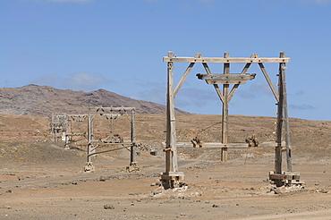 Part of salina on salty beach, Sal, Pedro Da Sal, Cabo Verde, Cape Verde, Africa