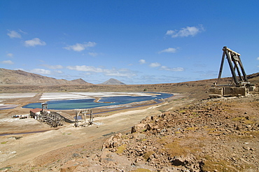 Salina on salty beach, Sal, Pedro Da Sal, Cabo Verde, Cape Verde, Africa