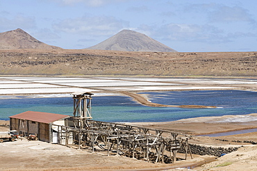 Salina, salt lakes, Sal, Pedro Da Sal, Cabo Verde, Cape Verde, Africa