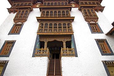 Dzong, Buddhist monastery fortress of Punakha, Bhutan, Asia