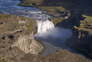 Waterfall in the Joekulsargljufur National Park, Iceland, Europe