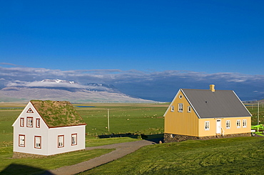 Typical houses in Glaumbaer, Iceland, Europe