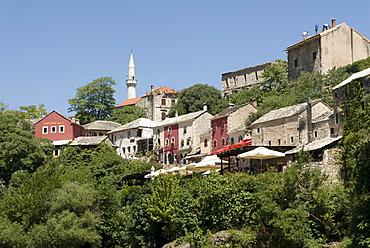 Minaret of the Koski Mehmed Pasa Mosque, Mostar, Bosnia, Europe