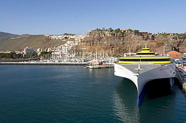 Harbour of San Sebastian, the capital of La Gomera, Canary Islands, Spain, Europe
