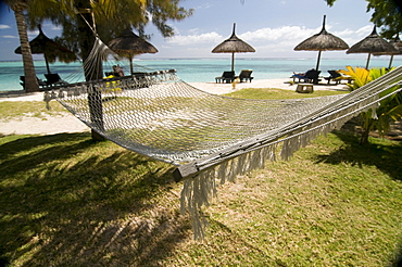 Hammock, beach, Le Paradis, Mauritius, Africa