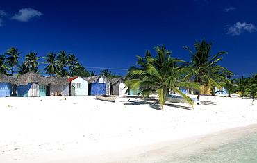 Manojuan fishing village on Saona island, Parque Nacional del Este national park, Dominican Republic