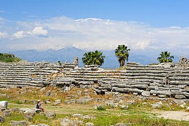 Stadium, archaeological excavation site of Perge, Antalya, Turkish Riviera, Turkey