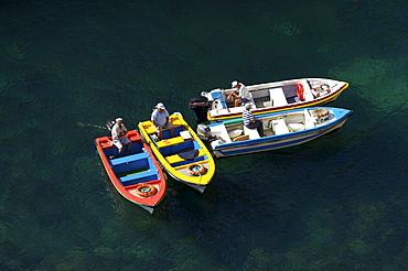 Boats at the Ponta da Piedade in Lagos, Algarve, Portugal, Europe