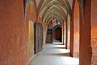 Cloister of the Bishop's Castle, Eagle Castle, Kuressaare, Saaremaa Island, Estonia, Baltic States, Northern Europe