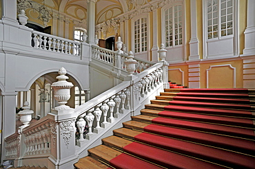 Staircase in the baroque Rund&le Palace, Pilsrundale, Bauske, Latvia, Baltic States, Europe