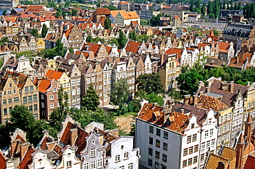 Gabled houses of the merchants, G&owne Miasto district, Gdansk, Mazury, Poland, Europe