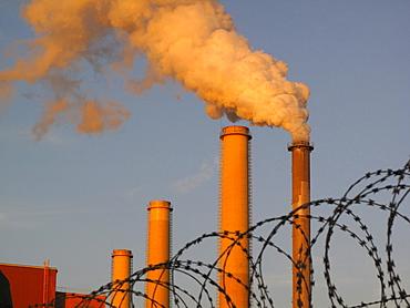 Pollution, coal-fired power plant, Tisova, West Bohemia, Czech Republic, Europe