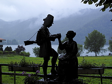 Hunter Memorial, Lake Schliersee, Upper Bavaria, Bavaria, Germany, Europe