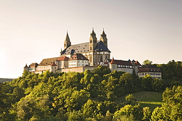 Grosscomburg or Comburg, Benedictine monastery near Schwaebisch Hall, Hohenlohe, Baden-Wuerttemberg, Germany, Europe