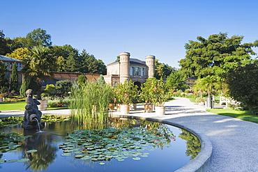 Entrance to the botanic garden in Karlsruhe, Baden-Wuerttemberg, Germany, Europe