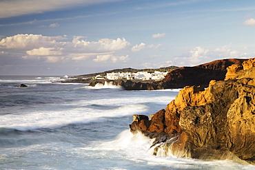 El Golfo on the west coast, Lanzarote, Canary Islands, Spain, Europe