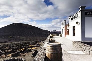Bodega La Geria in the wine growing area of La Geria, Lanzarote, Canary Islands, Spain, Europe
