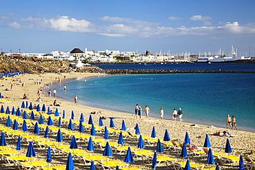 Playa Dorado in Playa Blanca, Lanzarote, Canary Islands, Spain, Europe