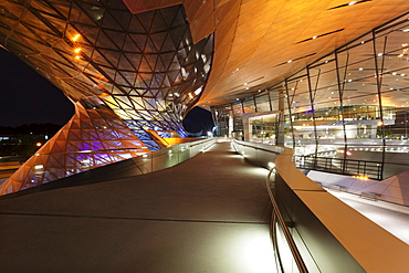 BMW Welt on Mittleren Ring, the central ring road near the Olympic Centre, Munich, Upper Bavaria, Bavaria, Germany, Europe