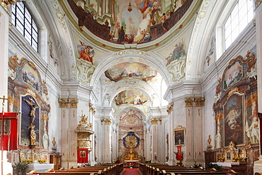Maria Langegg pilgrimage church, Dunkelsteinerwald, Wachau, Mostviertel region, Lower Austria, Austria, Europe