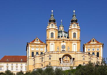 Melk Abbey or Stift Melk, Wachau, Mostviertel quarter, Lower Austria, Austria, Europe
