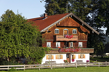 Farmhouse in Gaissach-Wetzl, Isarwinkel, Upper Bavaria, Bavaria, Germany, Europe