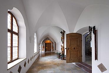 Cloister, Kloster Scheyern monastery, Hallertau, Holledau or Hollerdau, Upper Bavaria, Bavaria, Germany, Europe