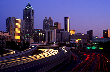 Skyline of Atlanta seen from the north, Georgia, USA