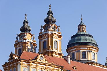 Stift Melk Abbey, Melk, Wachau, Mostviertel district, Lower Austria, Austria, Europe