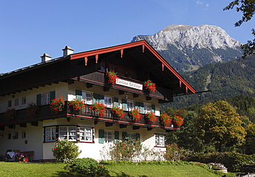 Landhaus Christlieger, a country guesthouse in Schoenau on Koenigssee lake, Berchtesgadener Land, Upper Bavaria, Bavaria, Germany, Europe