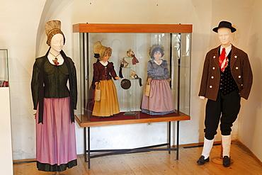 Wachauer Trachten, traditional costumes, Wachau Museum, Weissenkirchen, Wachau, Waldviertel, Forest Quarter, Lower Austria, Austria, Europe