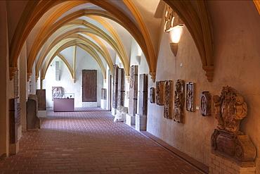Lapidarium, Gothic cloister wing, Goettweig Abbey, Wachau, Mostviertel, Must Quarter, Lower Austria, Austria, Europe