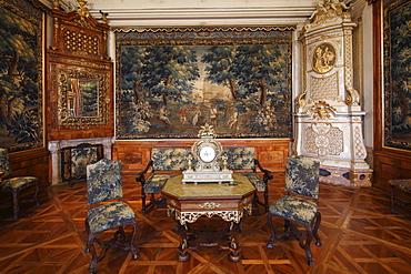 Gobelinzimmer, Tapestry Room in the Imperial Wing, Goettweig Abbey, Wachau, Mostviertel, Must Quarter, Lower Austria, Austria, Europe