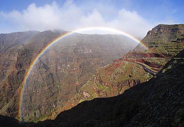 Rainbow, Valle Gran Rey, La Gomera, Canary Islands, Spain, Europe