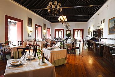 Restaurant in Hotel Parador de Turismo Conde de La Gomera, San Sebatian de La Gomera, Canary Islands, Spain, Europe