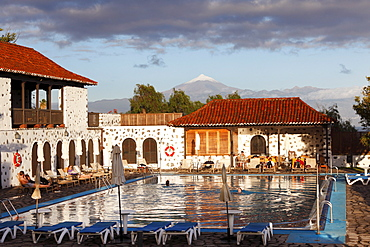 Swimming pool, Hotel Parador de Turismo Conde de La Gomera, San Sebatian de La Gomera, Canary Islands, Spain, Europe