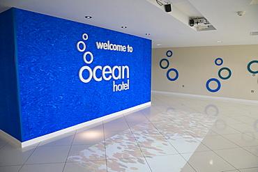 Ocean Hotel interior, Butlins, Bognor Regis, Arun, West Sussex, England, United Kingdom, Europe