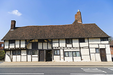 Masons Court, late medieval Wealden hall house, Rother Street, Stratford-upon-Avon, Warwickshire, England, United Kingdom, Europe