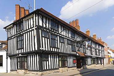 The Falcon Hotel and historic inn, Chapel Street, Stratford-upon-Avon, Warwickshire, England, United Kingdom, Europe